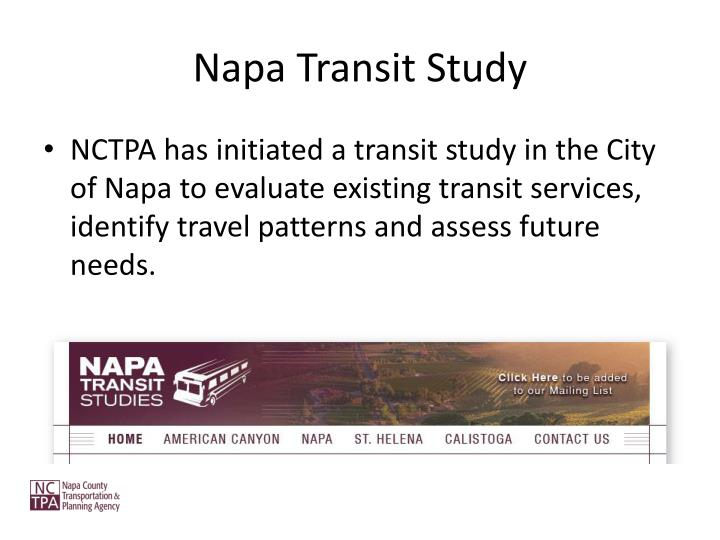 Napa Transit Study