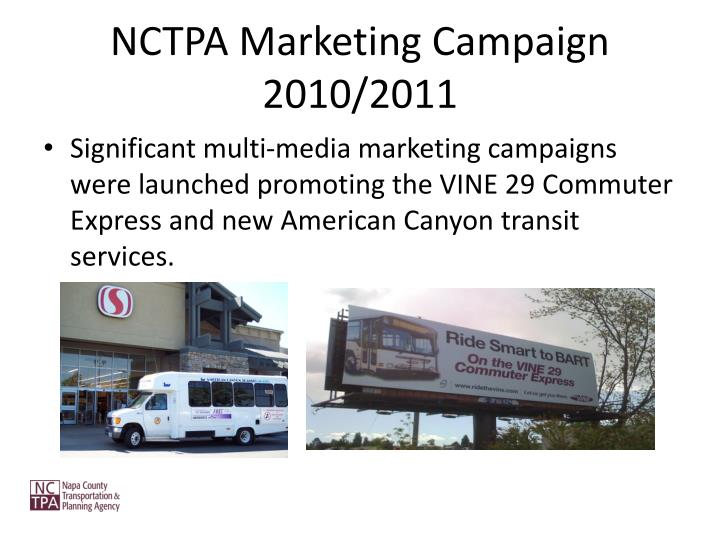 NCTPA Marketing Campaign