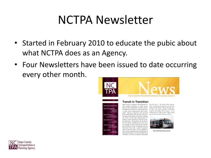 NCTPA Newsletter