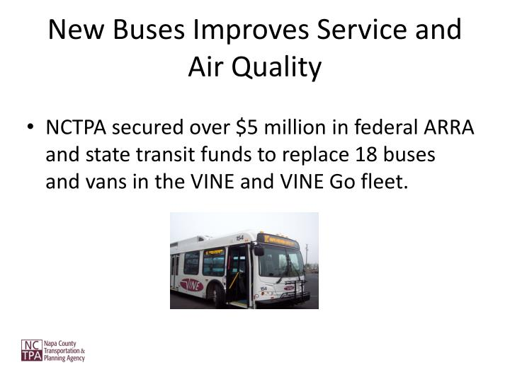 New Buses Improves Service and Air Quality