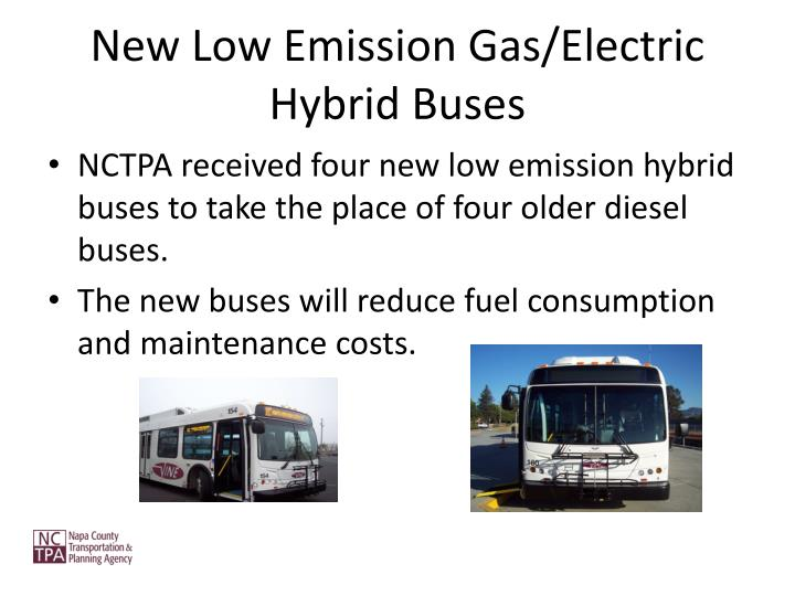 New Low Emission Gas/Electric Hybrid Buses
