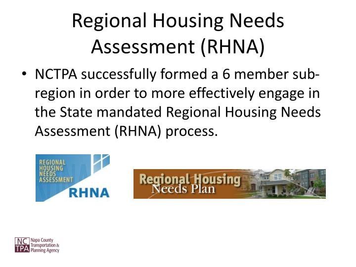 Regional Housing Needs Assessment (RHNA)