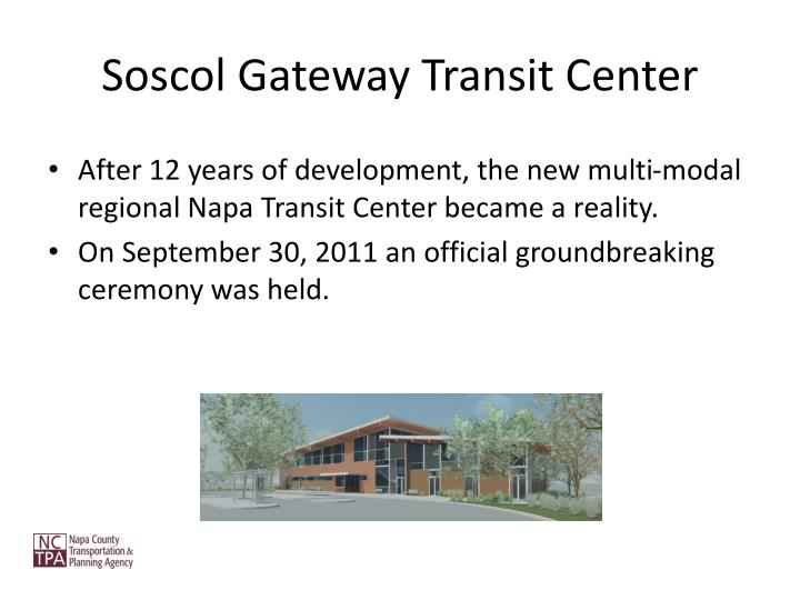 Soscol Gateway Transit Center