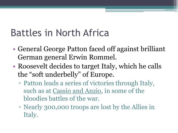 Battles in North Africa