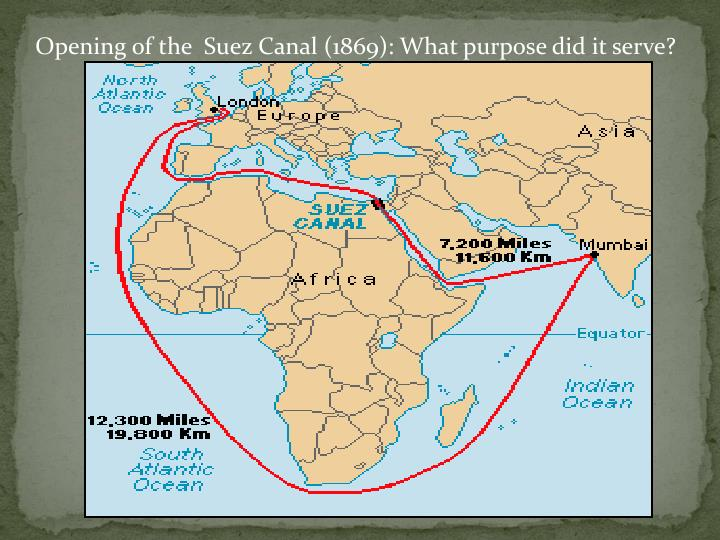 Opening of the  Suez Canal (1869): What purpose did it serve?