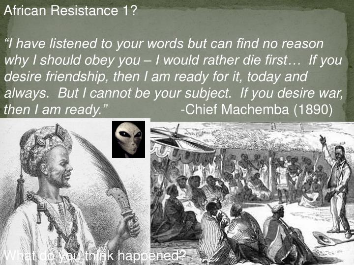 African Resistance 1?
