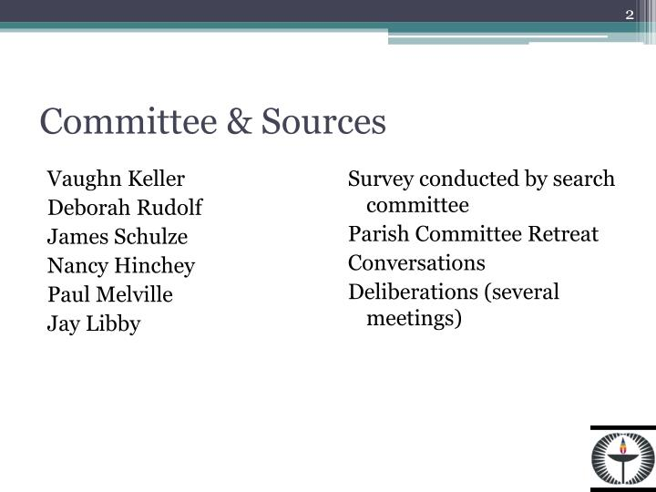 Committee & Sources