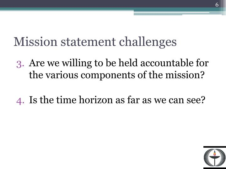 Mission statement challenges