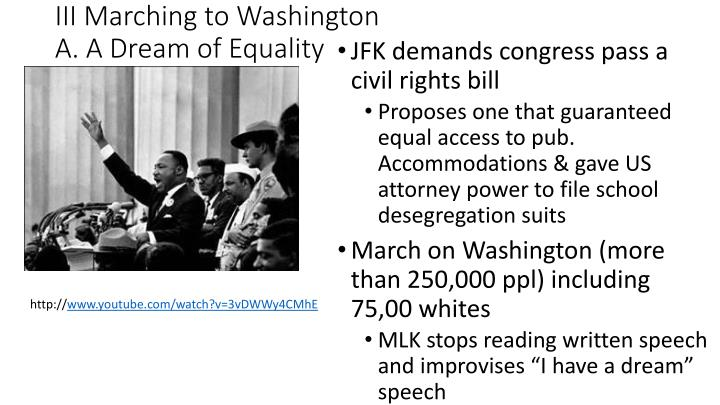 III Marching to Washington