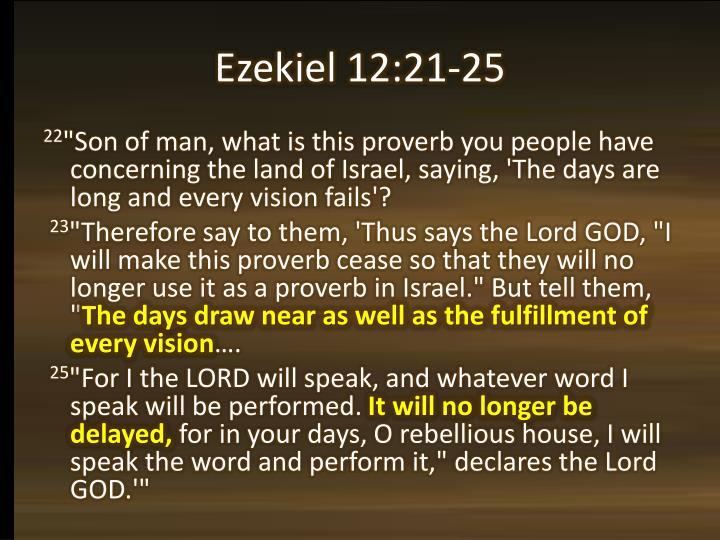 Ezekiel 12:21-25
