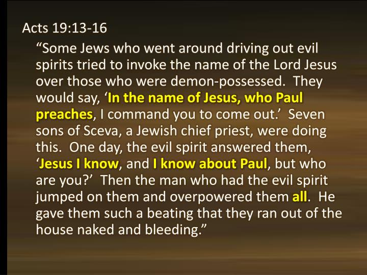 Acts 19:13-16