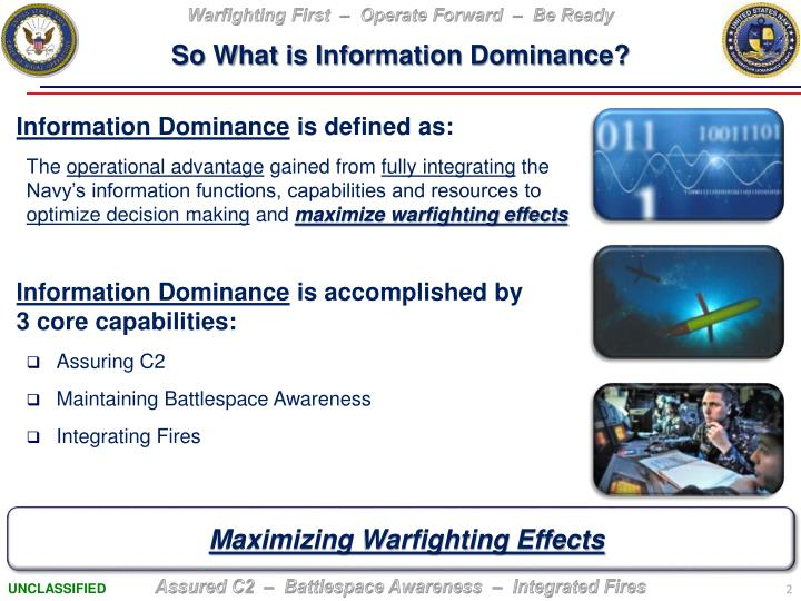 So What is Information Dominance?