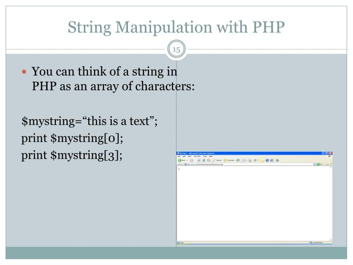 String Manipulation with PHP
