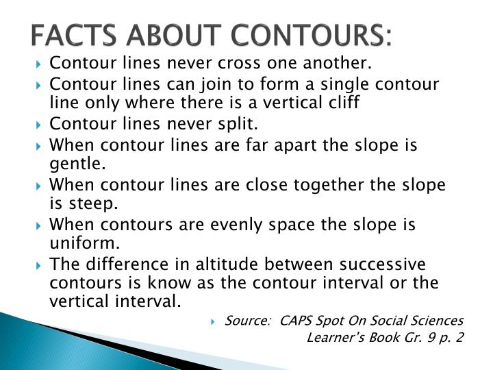 Facts about contours
