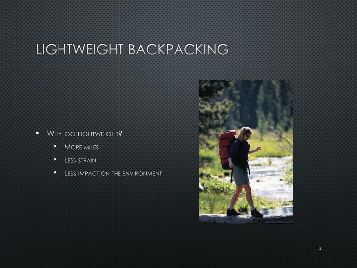 Lightweight Backpacking