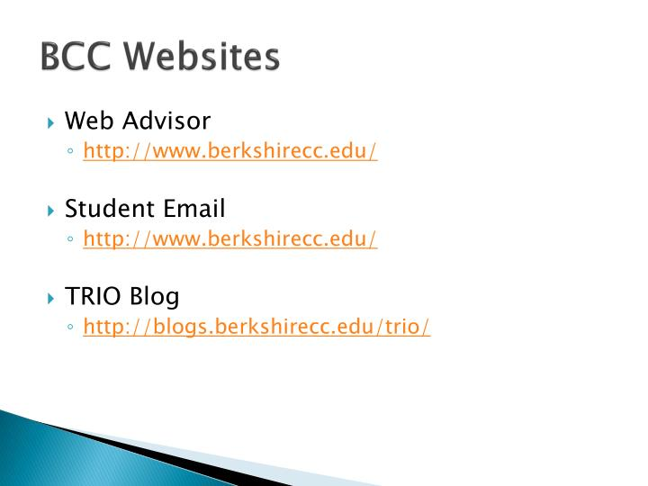 BCC Websites