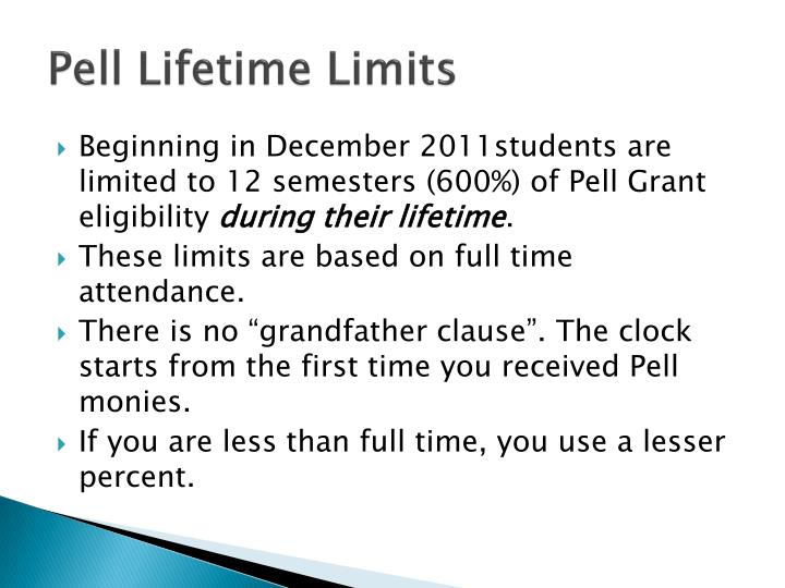 Pell Lifetime Limits
