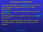 functions as relations