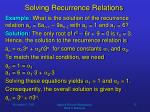 solving recurrence relations11