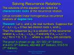 solving recurrence relations4