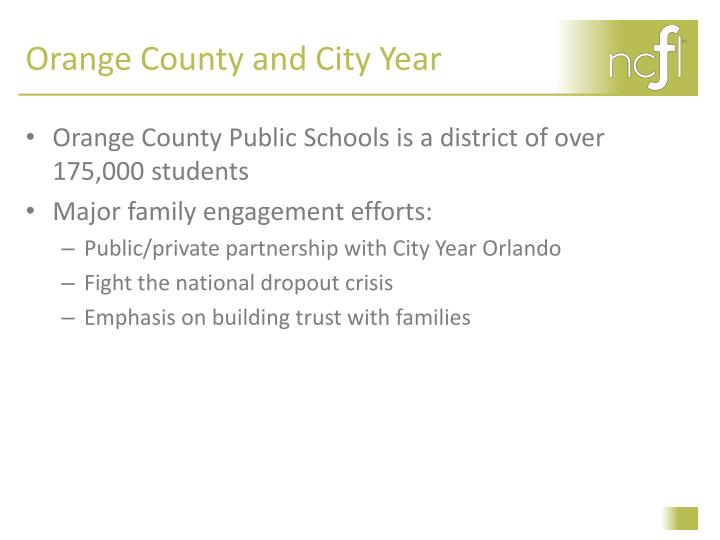 Orange County and City Year