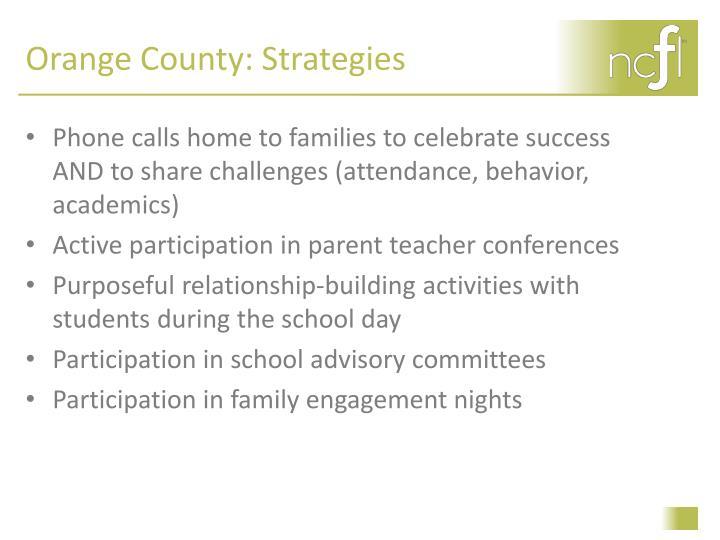 Orange County: Strategies