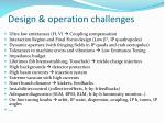 design operation challenges
