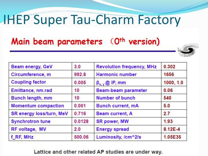 IHEP Super Tau-Charm Factory