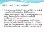 kekb tried crab cavities