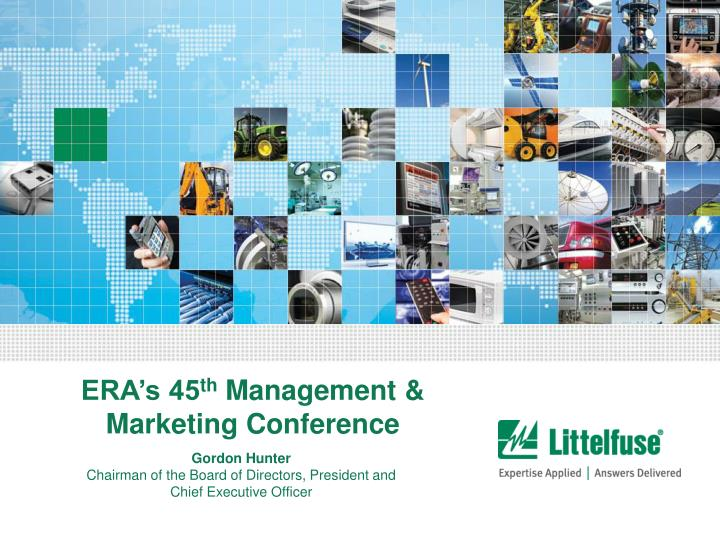 Era s 45 th management marketing conference