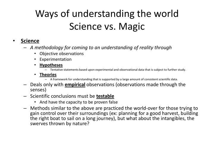 Ways of understanding the world