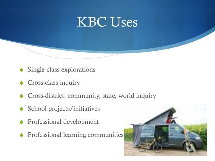 KBC Uses