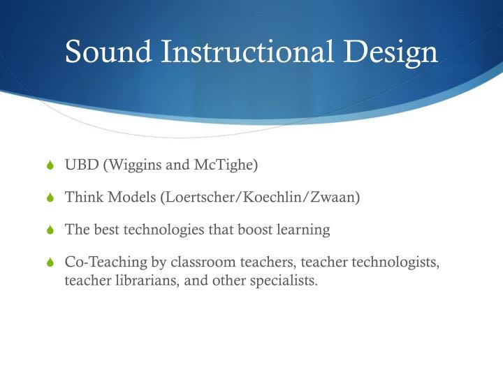 Sound Instructional Design