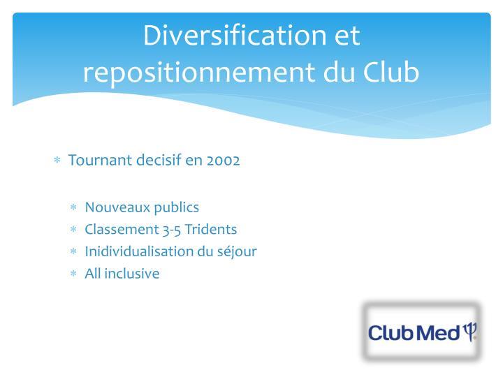 Diversification et repositionnement du Club