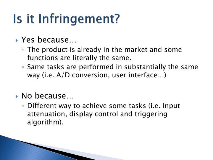 Is it Infringement?