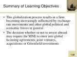 summary of learning objectives1