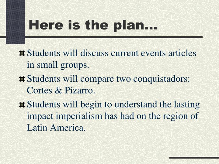 Here is the plan
