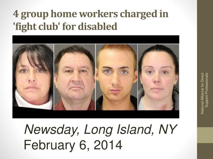 4 group home workers charged in 'fight club' for disabled