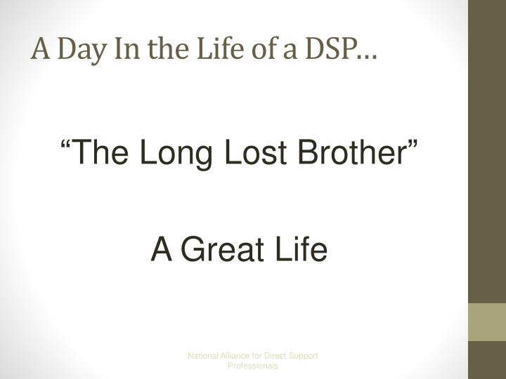 A Day In the Life of a DSP…