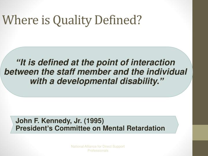 Where is quality defined