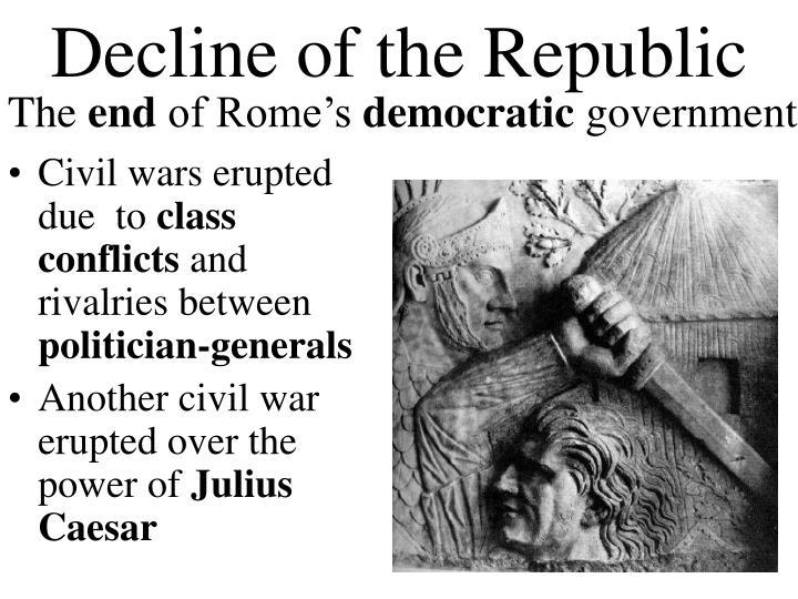 Decline of the Republic