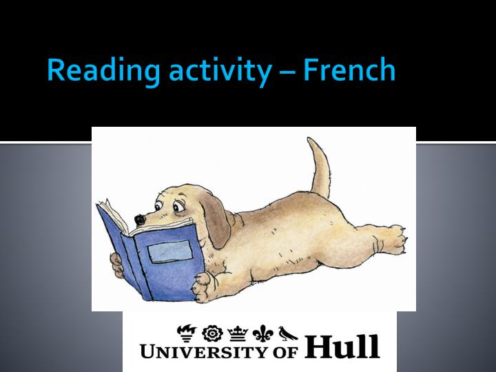 Reading activity – French