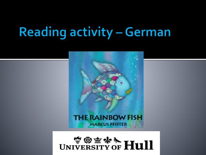 Reading activity – German