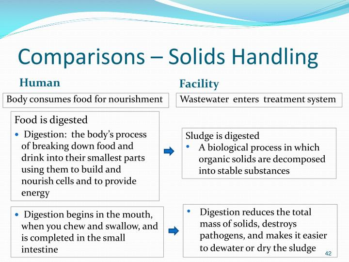 Comparisons – Solids Handling