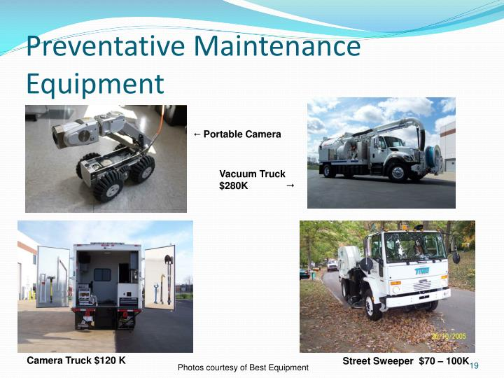 Preventative Maintenance Equipment