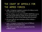 the court of appeals for the armed forces