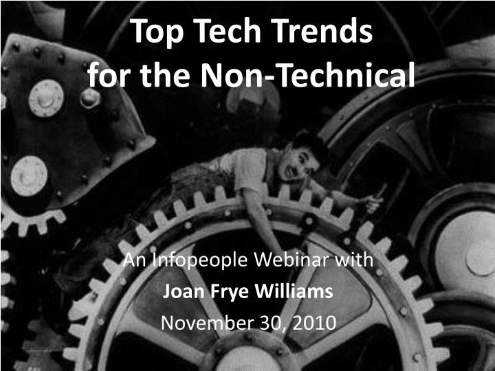 top tech trends for the non technical