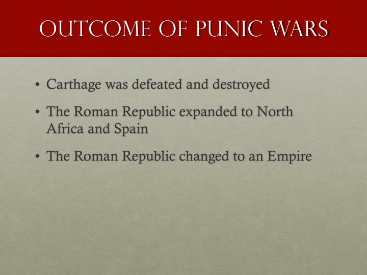 Outcome of Punic Wars