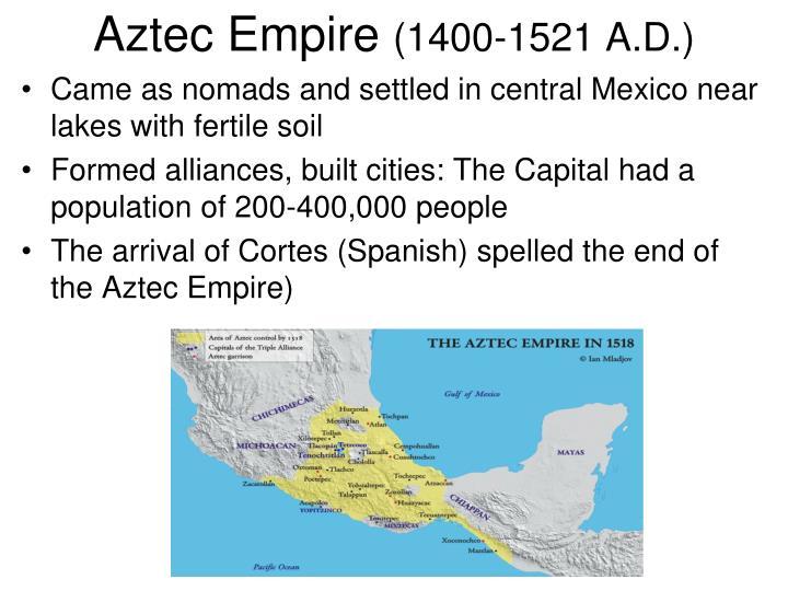 compare contrast sudanic empire and aztec empire