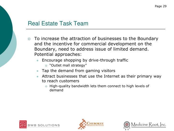Real Estate Task Team